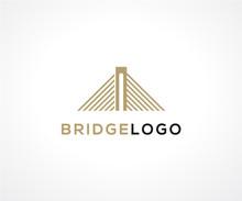 Bridge Logo Icon Design Concept, Construction Logo Design Template