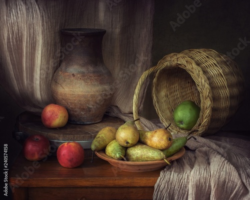 Fotomural Still life with apples and pears