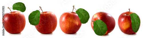 Fotomural  isolated image of apples closeup