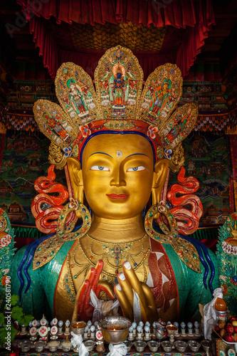 Fotografie, Obraz Maitreya Buddha in Thiksey Gompa