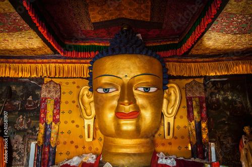 Obraz na plátně Sakyamuni Buddha statue in Shey monastery. Shey, Ladakh, India