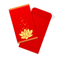 Red Chinese Envelope With Lotu...