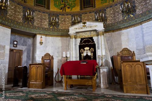 Fotografía Synagogue, in between the prayers are empty