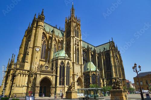 Fotografiet  Dom Kathedrale von Metz/France