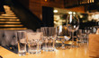 glasses of wine in restaurant