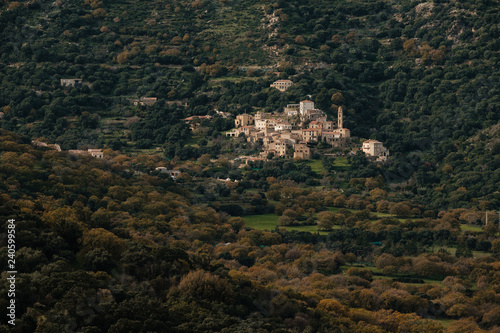 Ancient mountain village of Avapessa in Corsica Canvas-taulu