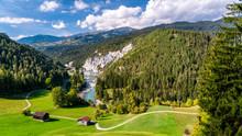 Switzerland, Grisons, Ruinaulta , Rhine Canyon