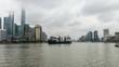 China Shanghai Bund Time lapse 4K 30 frames