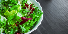 Various Fresh Mix Salad Leaves...