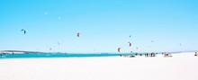 Landscape With Kite Boarder Ha...