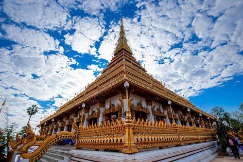 Foto  Beautiful landscape of Wat Nong Wang temple in Khon Kaen, Thailand
