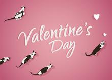 Happy Valentines Day Siamese Cat Poster Design