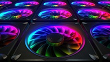 Computer Cooler With RGB LED L...