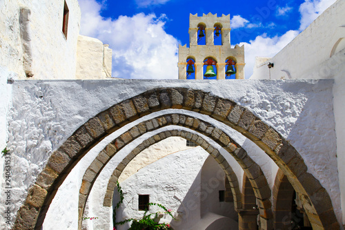 Greece famous monasteries - Monastery of Saint John the Theologian in Patmos