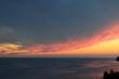 Sunset cliff baltic sea