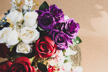 Beautiful Rose Of Artificial Flowers, Artificial Pastel Rose Flowers