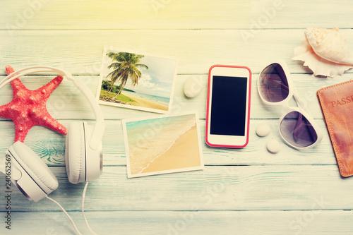 Papiers peints Magasin de musique Travel vacation and music concept