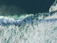 Aerial View Of Huge Ocean Wave...