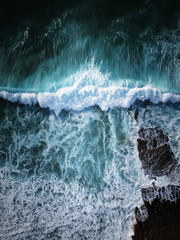 Panel SzklanyAerial view of huge ocean wave. Drone Photo
