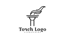 Initial T For Torch Logo Design Inspiration - Vector