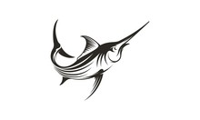 Icon Of Swordfish For Fishing Design - Vector