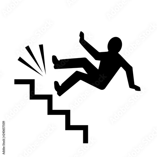 Canvas Print Person falling down the stairs
