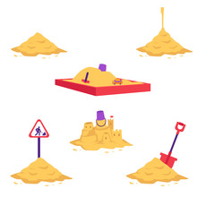 Sand Heap Vector Illustration ...