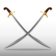 Vectoral Ottoman Turkish Sword. It Is Almost In Classic Form.