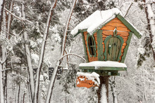 A Small Tree House In A Snowy ...
