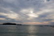 Dramatic clouds with the setting sun near Punta de Mita, Bucerias, Mexico