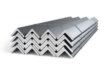 Stack Of Steel Angle Bars (L-profile)  - 3D Render