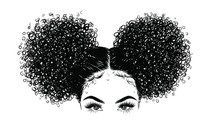 Curly Beauty Girl Illustration...