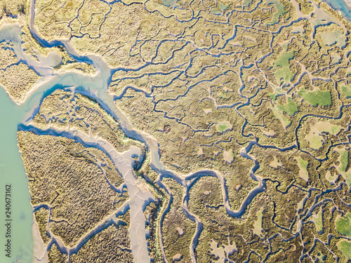 Tablou Canvas aerial view of marshland