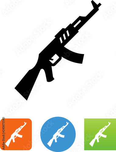 Vászonkép Assault Rifle Icon - Illustration