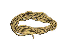 Roll Of Rope. Rope Twisted Circle