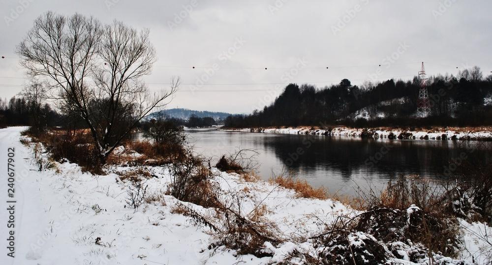 Fototapeta Pejzaż zimowy