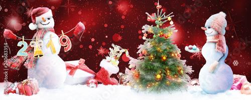 Fotografia Schneemann - Weihnachtsmotiv