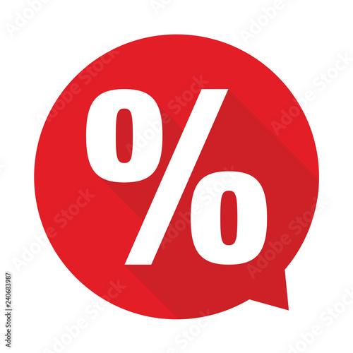 Fotomural  Percent sign label sale