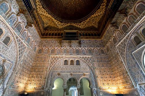 Fotografía  Beautiful interior of the 14th century Alcazar royal palace in Mudejar architect