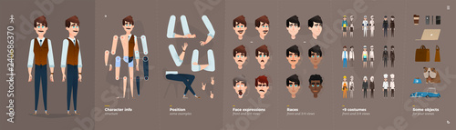 Cartoon voitures Cartoon Character Animation Set For Your Motion Design.