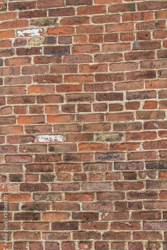 Poster Baksteen muur brick wall from old brick