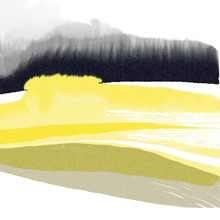 Abstract Watercolor Yellow Lan...