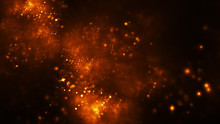 Abstract Orange Sparkles. Fant...