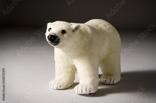 Tuinposter Ijsbeer Christmas figurine polar bear