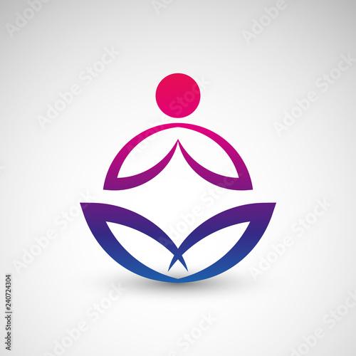 Fototapeta premium joga logo wektor