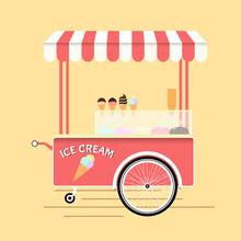 Ice Cream Bicycle Cart Vintage...