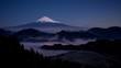 吉原から月光に照らされた富士山と雲海Timelapseズーム版-DE