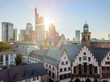 Old town and downtown during sunny day in Frankfurt am Main, Germany
