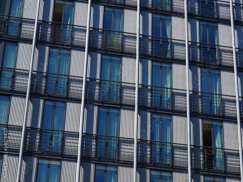 Foto  Corrugated building facade