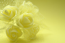 Yellow Background With Yellow Roses